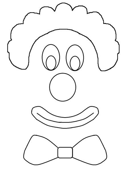 clown mask template template for drawing at getdrawings free for personal use template for drawing