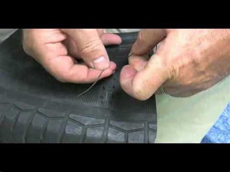 emergency tire repair sidewall repair youtube