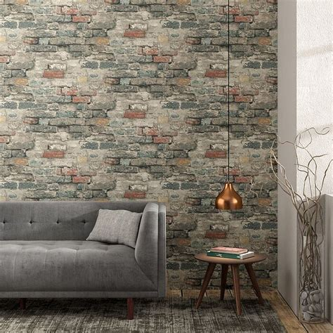 brick wallpapers turn   style ingenious alternative
