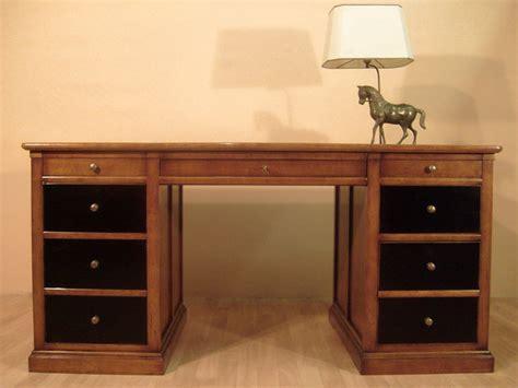 bureau de ministre bureau ministre en merisier bora meubles bois massif