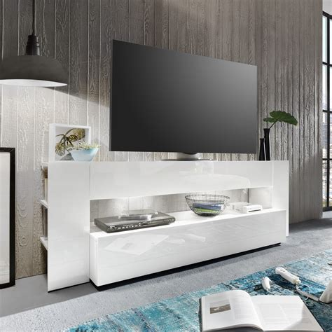 Hochglanz Weiss Möbel by Tv Lowboard Onyx In Wei 223 Hochglanz Tv Board Lowboard Tv