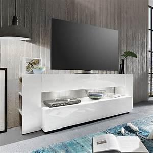 Tv Möbel Hochglanz Weiß : tv lowboard onyx tv board lowboard in wei hochglanz tv m bel led beleuchtung ebay ~ Bigdaddyawards.com Haus und Dekorationen