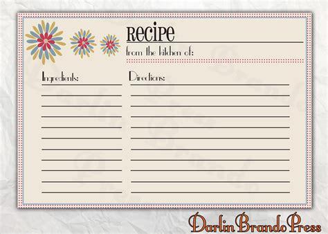 free editable recipe card templates for microsoft word darlin brando press