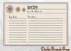 6 best images of customizable printable christmas recipe With 5x7 recipe card template for word