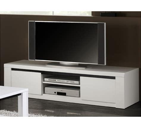 canape teck meuble tv laqué blanc et noir quot quot 2930