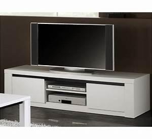 Meuble Laqué Noir : meuble tv laqu blanc et noir eden 2930 ~ Premium-room.com Idées de Décoration