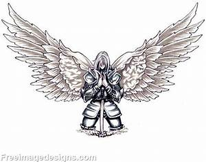 Knight with Wings Kneeling Tribal Image Download Free ...