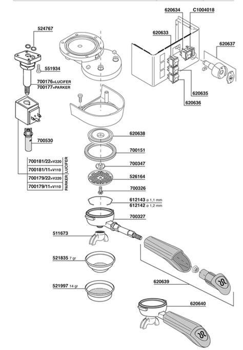 rancilio silvia  replacement gasket   diffuser
