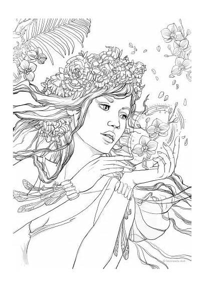 Coloring Pages Fantasy Printable Adult Adults Colouring