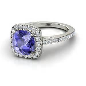 tanzanite engagement rings gemvara tanzanite cushion cut engagement ring engagement rings photos brides