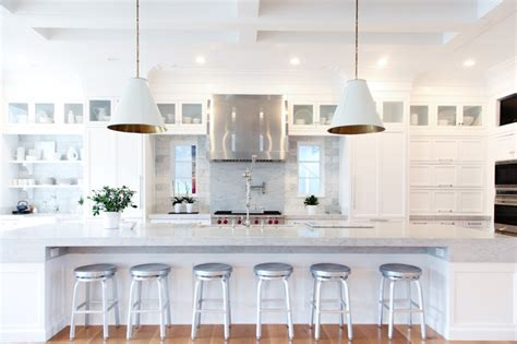 light bright symmetrical kitchen design transitional