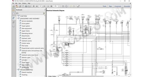 takeuchi excavators operators manuals service documentation