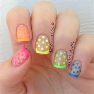 Part stylish polka dots nail art designs jewe