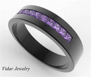 striking men39s pave set amethyst wedding band custom With mens amethyst wedding ring
