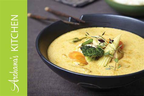thai kitchen green curry recipe vegetarian thai green curry recipe by archana s kitchen 8445