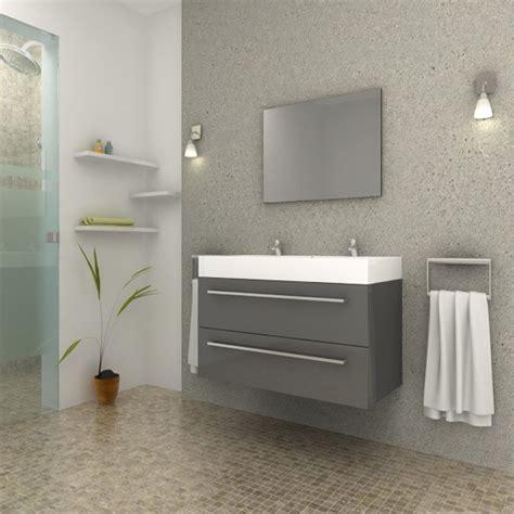 moquette de salle de bain ensemble meuble salle de bain quot aqua quot gris