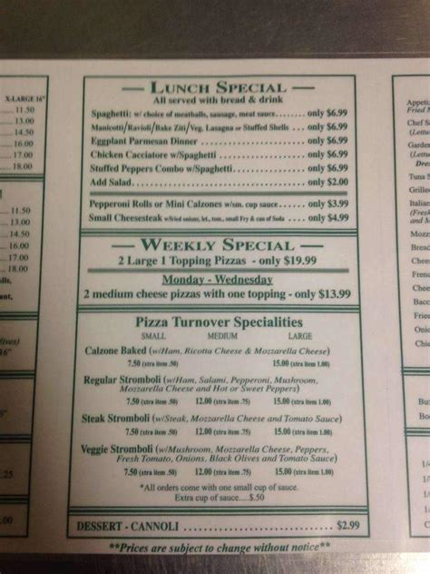 restaurant menu menupix