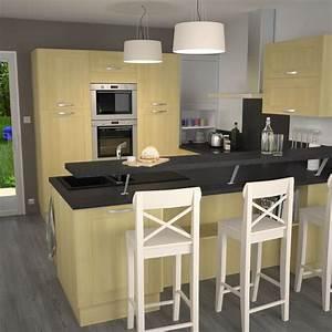 les 7 meilleures images du tableau cuisine sur pinterest With meuble bar pour cuisine ouverte 0 la cuisine en u avec bar voyez les derniares tendances