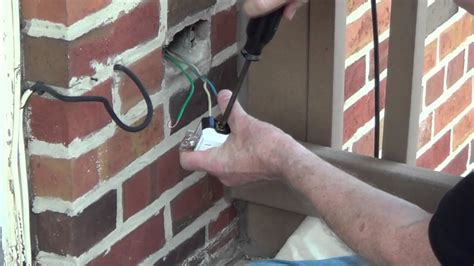 Exterior Outlet  Installing An Outdoor Outlet Conduit