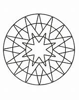 Mandala Coloring Simple Mandalas Pages Patterns Geometric Zen Stress Printable Anti Sun Very Children Worries Inspiring Become Designed Because Unique sketch template