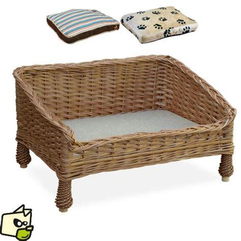canapé en osier lit canape en osier pour chien et lit canapé osier