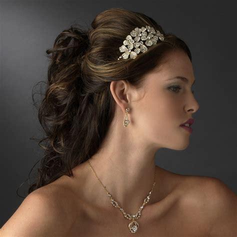 Bold Rhinestone Flower Headpiece - Elegant Bridal Hair ...
