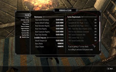 fnis creature pack or sexlab creature files not detected skyrim technical support loverslab