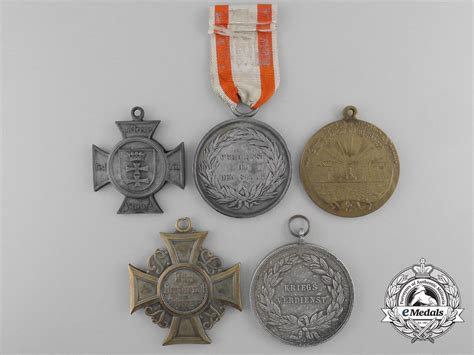 five prussian medals decorations awards