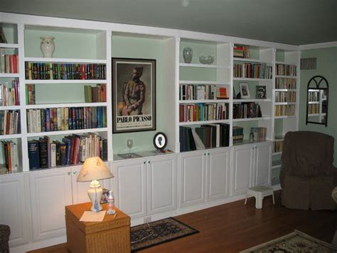 Build A Bookcase Wall by Built In Book Cases