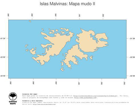 Mapa Islas Malvinas; mapas colección continente América