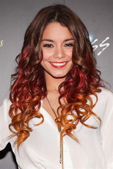 vanessa hudgens ombre  dip dyed hair color women