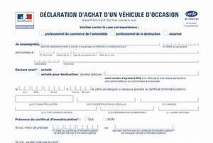 Déclaration D Achat De Véhicule : declaration d achat vehicule cerfa d claration d 39 achat d 39 un v hicule d 39 occasion une d ~ Maxctalentgroup.com Avis de Voitures