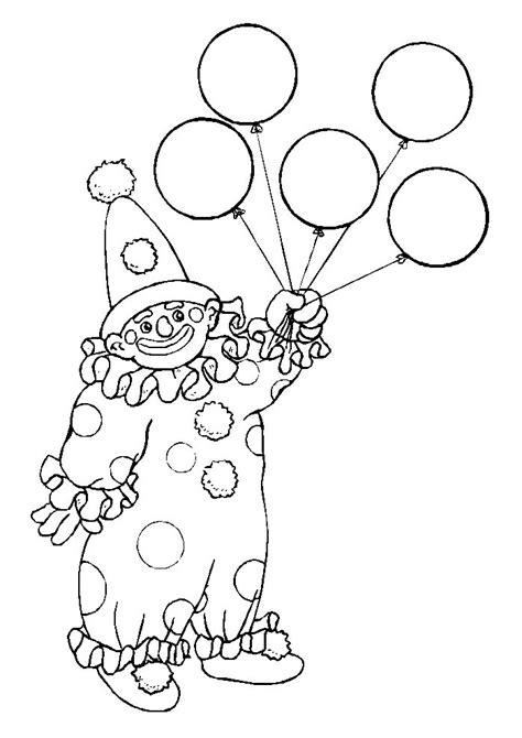 Kleurplaat Clown Met Ballonnen by Clown Met Ballon Clown Kleurplaten Kleurplaat