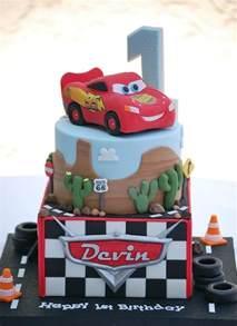 Disney Cars First Birthday Cake