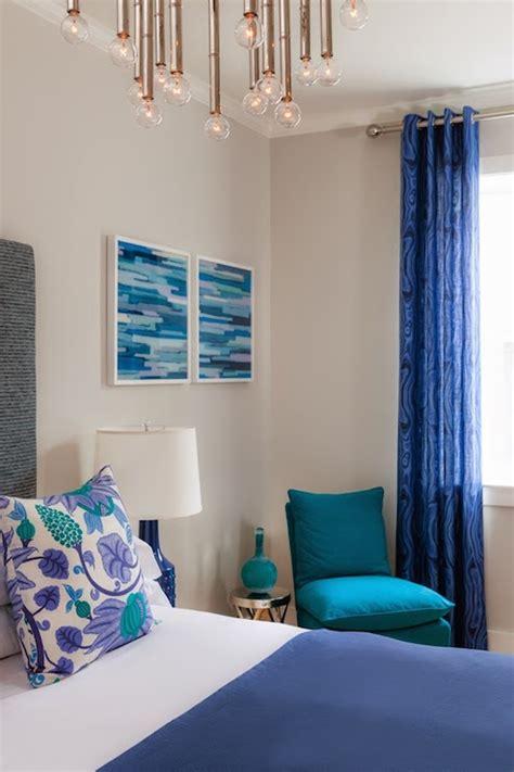 cobalt blue curtains cottage bedroom rachel reider