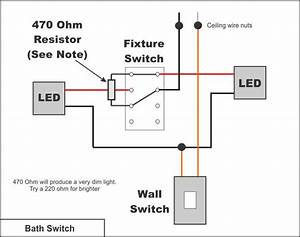 Adding Bathroom Light Wall Switch Converts Ceiling Fixture