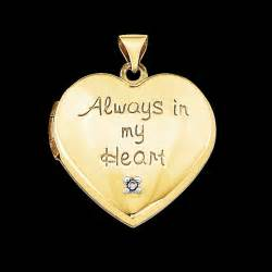 Forever in My Heart Locket Gold