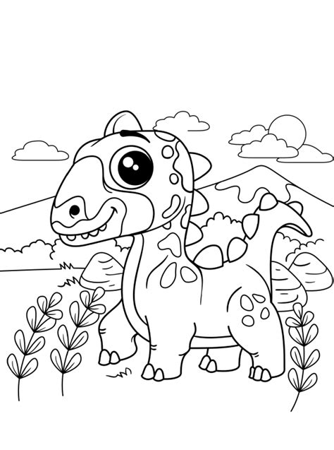 3327 x 2535 jpg pixel. Kids-n-fun   Kleurplaat Dino kids dino