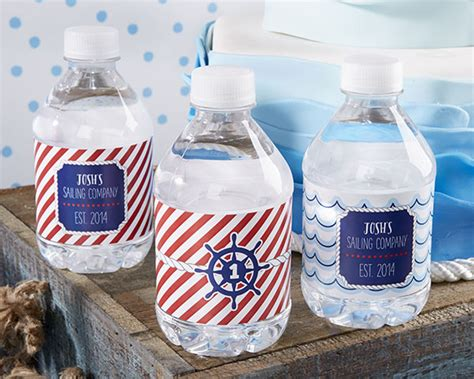 personalized water bottle labels nautical birthday party
