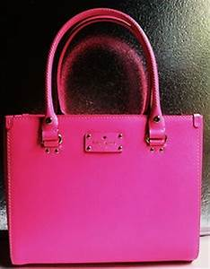Nwt kate spade wellesley quinn leather handbag purse pink