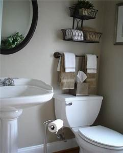 simple design hanging storage upon toilet design ideas for With small bathroom decor ideas pictures