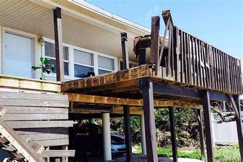 collapsing deck dumps   florida beach house jlc