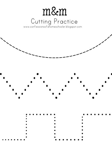 pin cutting practice worksheet zig zag lines hawaii