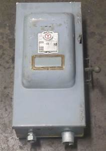 Ge Trumbull 40222 60a 60 A Amp 2 Pole 250v Fusible Safety