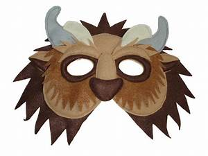Children's Beauty and the Beast Handmade BEAST Felt Mask
