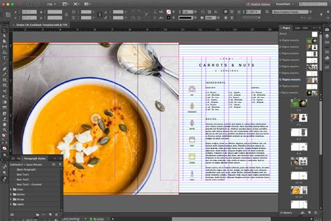 Cookbook Template Simple Free Cookbook Template For Indesign Pagephilia