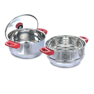 buy  pcs stainless steel cook serve set    price  india  naaptolcom
