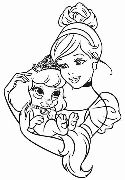 Coloring Pets Pages Palace Princess Disney Cinderella