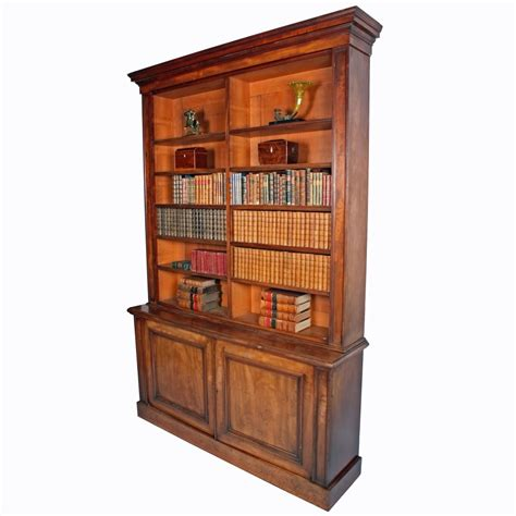 robert lighting antique library bookcase mahogany open bookcase