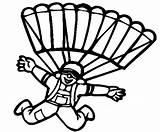 Colorear Dibujos Paracaidistas Colorir Desenhos Coloring Esportes Paraquedista Parachute Paraquedistas Children Coloringpagesfortoddlers Disimpan Dari sketch template
